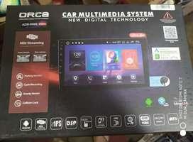 Tv android 9 inch apple car play tercagih Orca siap pasang Megah top
