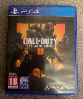 Ps4 game call of duty black ops 4 almost new