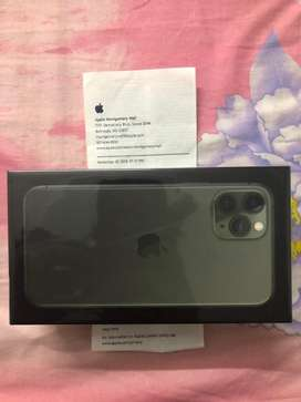 Apple US store iphone 11 pro 256 gb green sealed and unlocked + bill