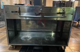 Commercial cooking counter