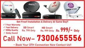 Tata Sky & Airtel Digital Tv & All Dish Available Here All india COD