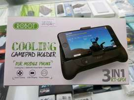 Cooling gamepad holder for mobile phone