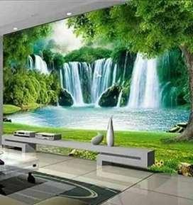 wallpaper dinding custom terbaru gordyn blinds