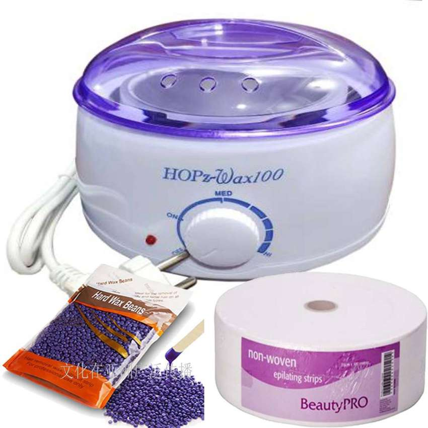 Hot Wax Heater with wax Beans & stripsBe Envy..Be show stealer