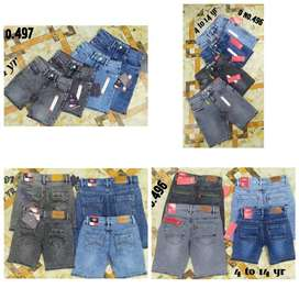 EXPORT SURPLUS COLLECTIONS FOR BOYS AND GIRLS DENIM JEAN SHORTS