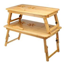 WOODEN LAPTOP TABLE WITH 2 COOLING FAN