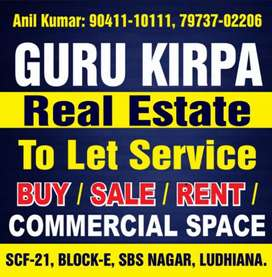 One bhk available in Ground floor brs nsgar nr market