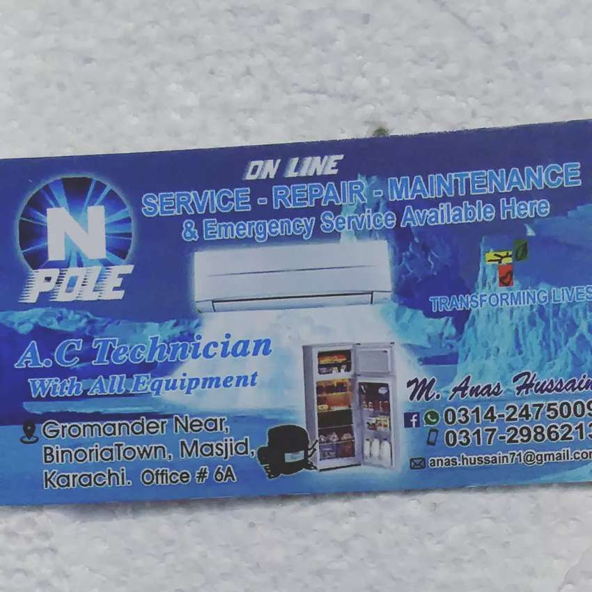 A/C &refregerator repairing  home sevice free 0