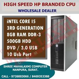 CORE I5 - 8GB RAM - 500GB HDD - HIGH SPEED SLIM HP CPU BRANDED