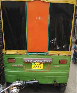 NEW ASIA AUTO RICKSHAW ON PETROL, LIFE TIME TOKEN, SMART CARD.