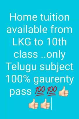 Lkg to 10th class... Only Telugu language 100% pass gaurenty
