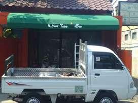 Kanopi awning cafe rumah bahan anti air whatersile oke