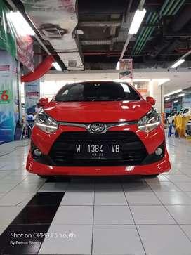 Toyota Agya 1.2 TRD 2018 merah metik no manual harga kredit dp minim