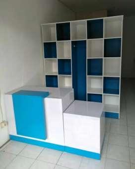 Pembuatan meja kasir dan rak laundry