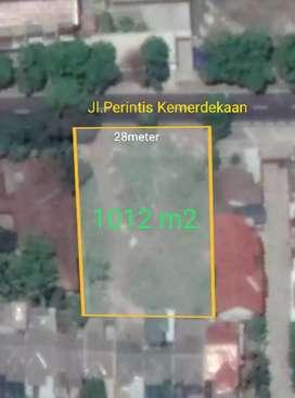 Tanah Pekarangan utk Gudang/kantor 1012m2 muka 28m hrg 3jt/m2