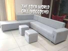 Nexa collection L sofa set with stools