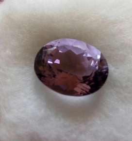 Natural 4,9 Carat Amethyst Untreated Brazilian Oval Shape Cut Stone
