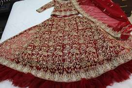 Red Bridal Dress for Barat (lehnga)