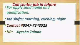 we are looking agent for call center job