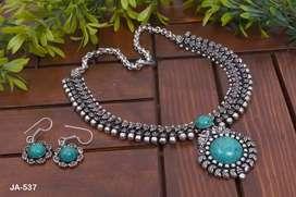 Oxidised Jewellery set / Necklace