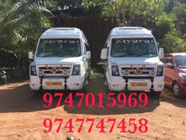 14 seat & 20 seat traveller for rent with driver
