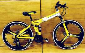 Sports Foldable Cycle with 21 Gears: Hybrid Cycle