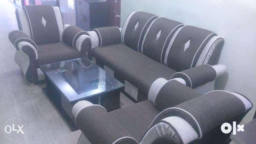 Five seat Jute combination Sofa Set 0