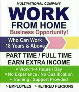 Work from home opportunity to all,like students,job person