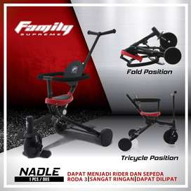 FAMILY Supreme Tricycle Nadle Stroller Sepeda anak 2 in 1