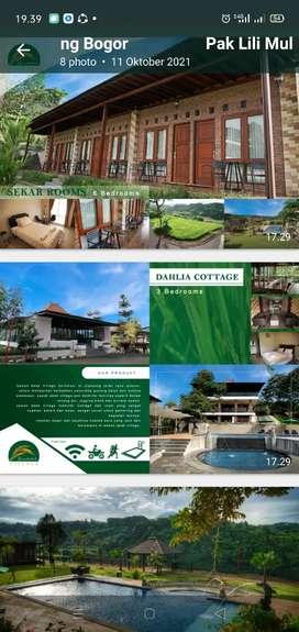Disewakan villa Flamboyan 6 kamar tidur dan kamar mandi di Bogor