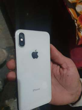 Iphone x 64gb white colour bill and charger only