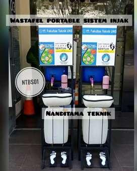 wastafel sistem injak-