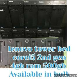 branded lenovo tower corei5 2nd 4gb ram 500gb hdd win7  avi in bulk qt