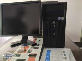 Dell HP  Lenovo Desktop Computer PC  with LED Monitor