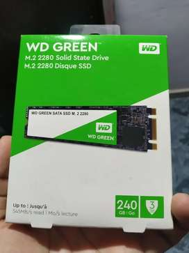 WD Green 240 gb M.2 SSD , 3 months used in A1 condition.