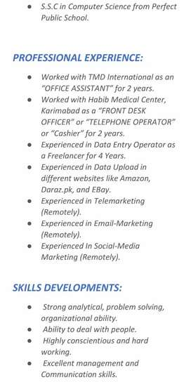 Homebased online job
