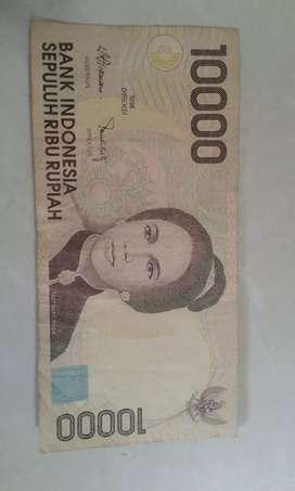 Uang kertas pecahan 10 ribu thn 1998