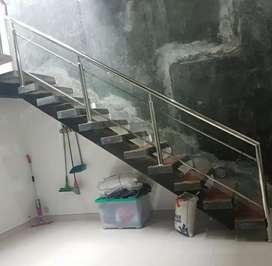 Railling tangga kaca dan stainless 781