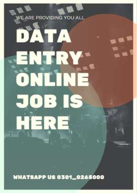 Online work of data typing job is here apply it now and earn