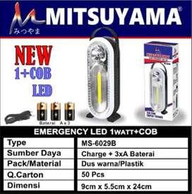 Lampu emergency Mitsuyama COB MS-6029B