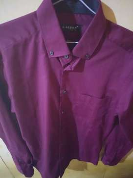 Baju slimfit katun maroon ALLISAN baru sekali pakai !