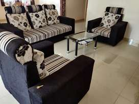 1 year Old Five Seater Large Size Sofa Set with center table