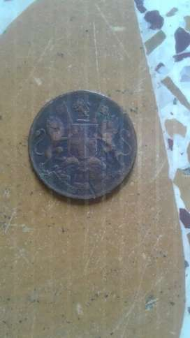 Rear old Indian  coin