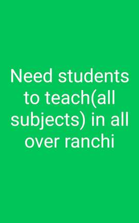 I want to teach  students nursery to 8th class