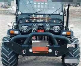 Mahindra Willy black jeep