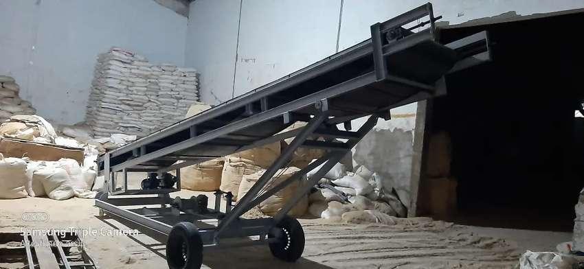 conveyor bongkar muat truk dan kontainer