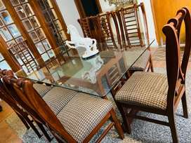 Dining table 8 chair slightly used Available also full house furniture