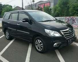 Toyota Kijang Grand Innova 2.0 V Luxury AT Bensin 2015 Hitam Spt Baru