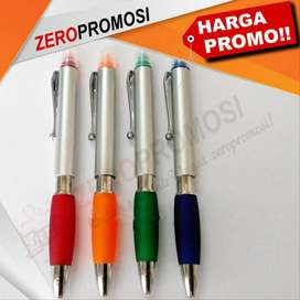 Souvenir Pen Plastik Stabilo Bisa Cetak Logo