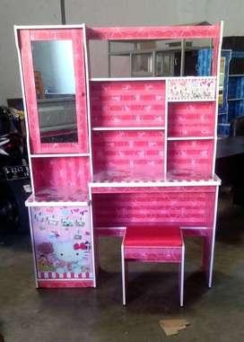 Meja Belajar MB Cermin Pink Hello Kitty MBMR-165-HK